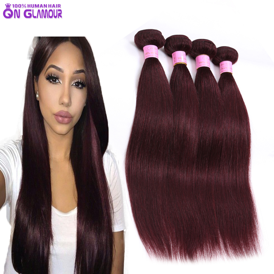 Cheap 7a burgundy red wine color weave brazilian 4 bundleslot cheap 7a burgundy red wine color weave brazilian 4 bundleslot thick and soft virgin hair straight 99j human hair bundles in hair weaves from hair pmusecretfo Choice Image
