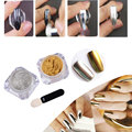 2g / Box Gold Silver Mirror Powder Holographic Powder 1g Nail Glitter Dust Nail Art Sequins Chrome Mirror Pigments
