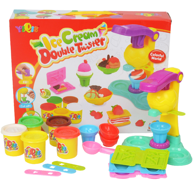 JOY MAGS DIY Malleable Fimo Polymer Modeling Clay Playdough Tools Soft Blocks Plasticine playdough set Birthday Gift