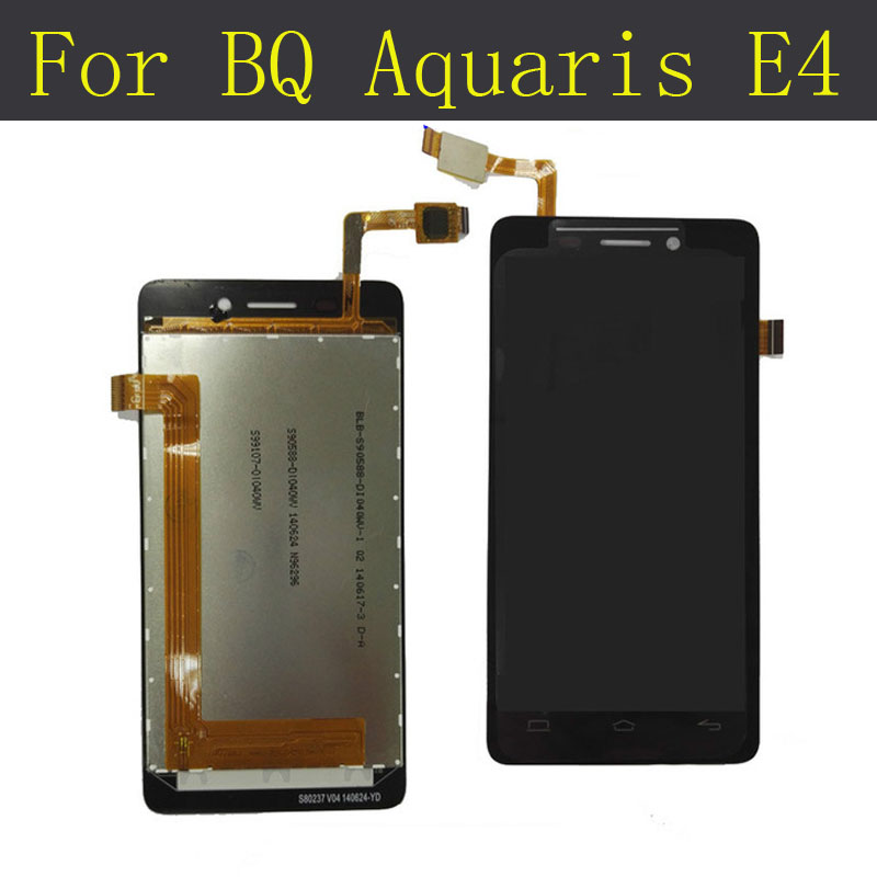 New 100% tested LCD Display + Digitizer Touch Screen AssemblyFor BQ Aquaris E4 Original replacement screen