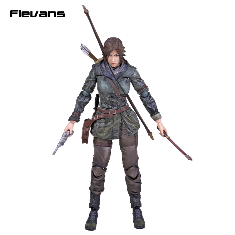Play Arts KAI Rise of The <font><b>TOMB</b></font> <font><b>RAIDER</b></font> <font><b>Lara</b></font> <font><b>Croft</b></font> PVC Action Figure Collectible Toy 27cm