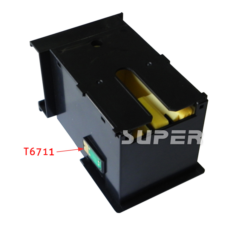 Maintenance tank Waste ink tank T6711 for Epson stylus pro  WF3010 3520 3530 printer with compatible chips on high quality 02023 clutch bell double gears 19t 24t for rc hsp 1 10th 4wd on road off road car truck silver