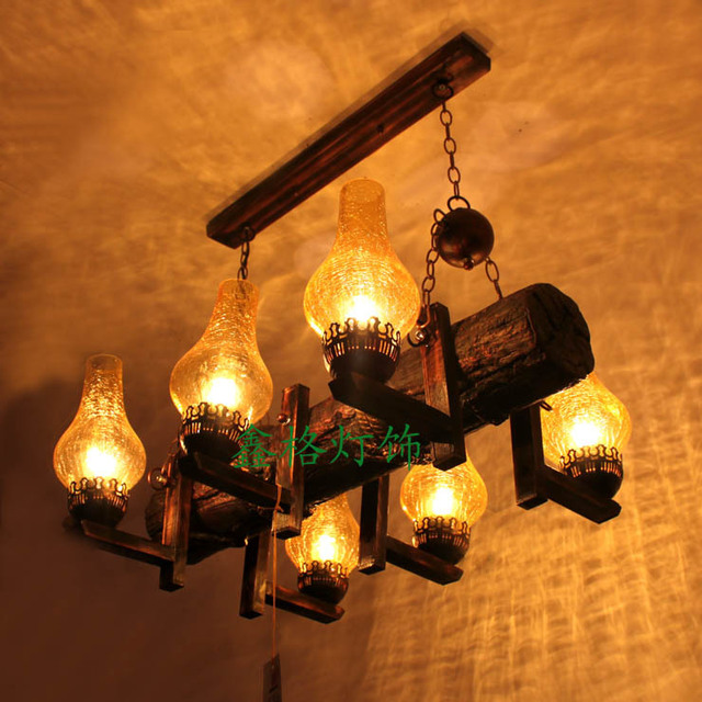 Chinese style vintage personality resin pendant light american style antique living room lights bar lights project light