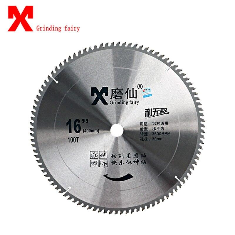 Lame de coupe MX Invincible lame de scie circulaire coupe bois tungstène acier Machine de découpe 400mm 16 pouces disque abrasif lame de scie