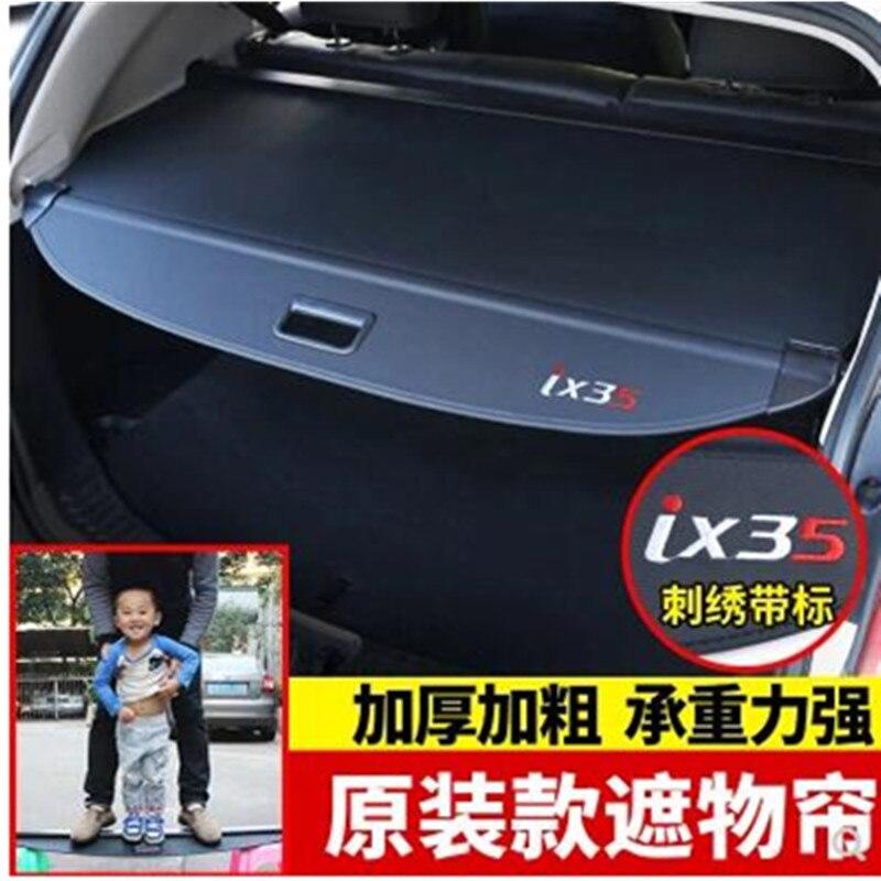 Achter Pakket Plank Kofferbak Cover Materiaal Gordijn Achter Gordijn Intrekbare Spacer Achter Rekken Voor Hyundai Ix35 2010-2017 Exquise (On) Vakmanschap