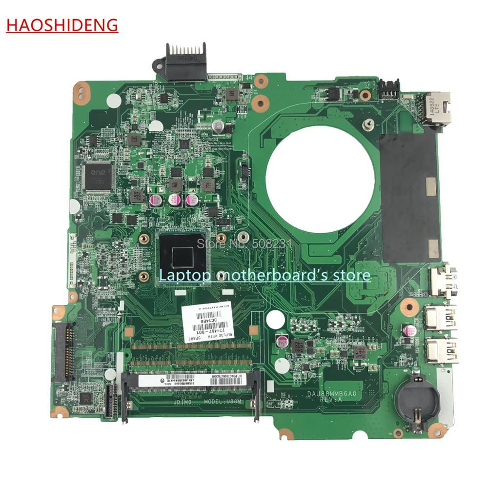 HAOSHIDENG 779457-501 U87 U88 mainboard for HP Pavilion 15-N 15-F series laptop motherboard with N2830,fully Tested free shipping 779457 501 u88 for hp pavilion 15 n 15 f series motherboard with n2830 cpu all functions 100