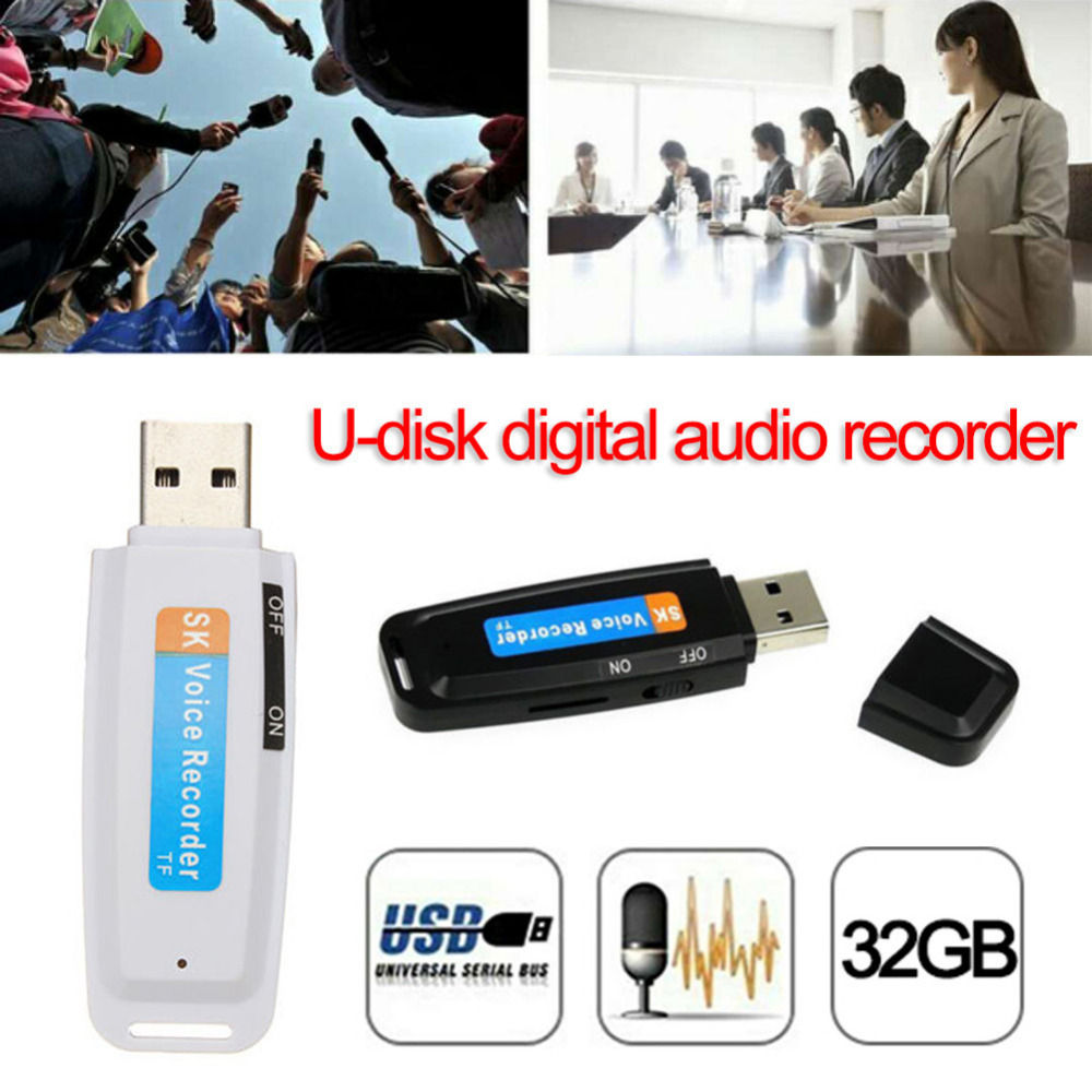 2019 New arrival U-Disk Digital Audio Voice Recorder Pen charger USB Flash Drive up to 32GB Micro SD TF High Quality J25 1