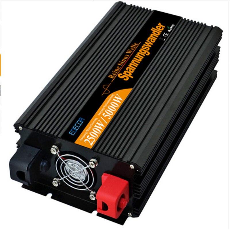 EDECOA off преобразователь сетевого напряжения постоянного тока 24 В к AC 220 В 2500 Вт 5000 Вт Чистая синусоида Инвертор Бесплатная доставка