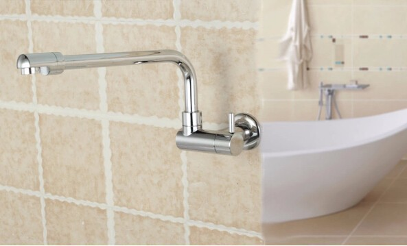Promote High Quality Brass Chrome Finished Single Single Cold Bathroom  Basin Faucet Sink Mixer Corner Faucet