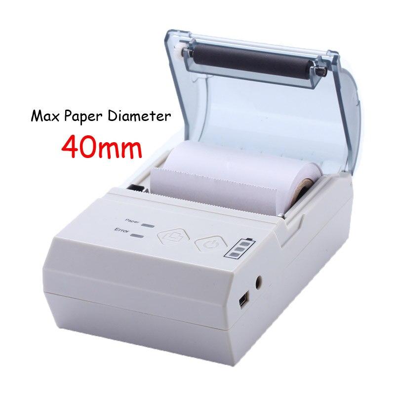 <font><b>58mm</b></font> portable <font><b>bluetooth</b></font> thermal printer IOS mobile language pos printer with special power remaining indicator light <font><b>impressora</b></font>