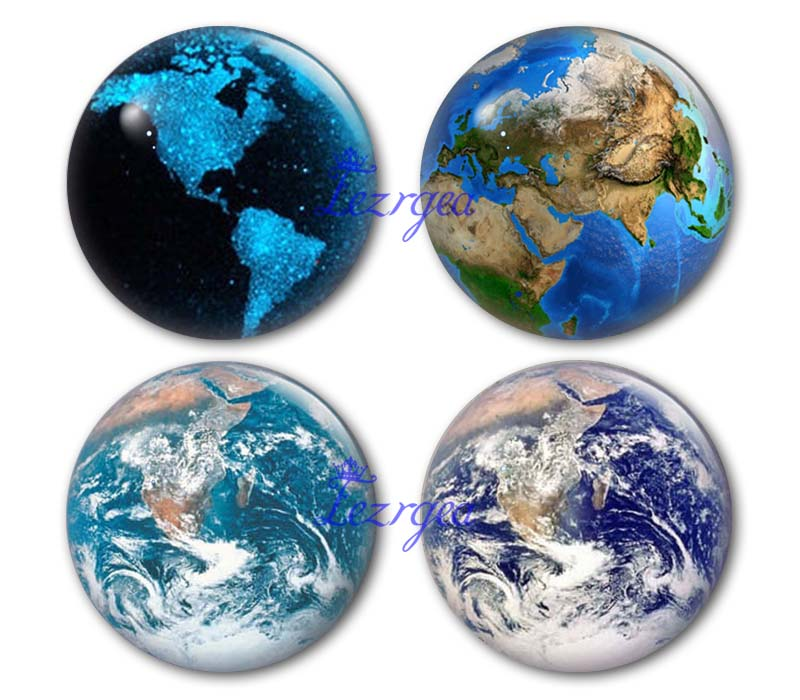 Earth glass cabochon 12mm/14mm/16mm/18mm/25mm/30mm/40mm Round photo earth map glass cabochon demo flat back Making findings