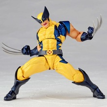 Marvel X-MEN 15cm Boxed Wolverine Logan Howlett Super Hero BJD Şəkilli Model Oyuncaqlar