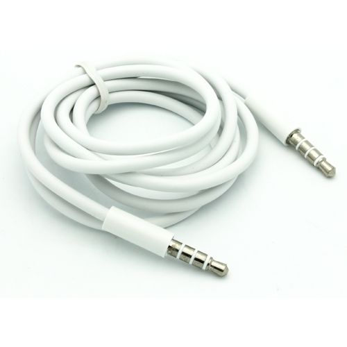 For Mobilephone White Auxiliary Cable Cord Car Aux Stereo Speaker Wire 3 5mm