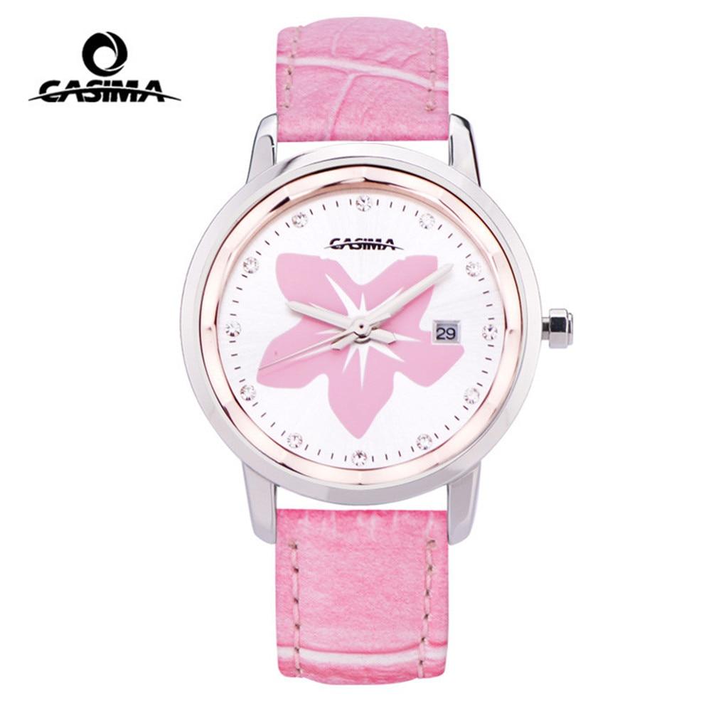 CASIMA Luxury Brand Women Watches Fashion Calendar Ladies Quartz Wrist Watch Waterproof Leather Clock Saat 2017 Relogio Feminino