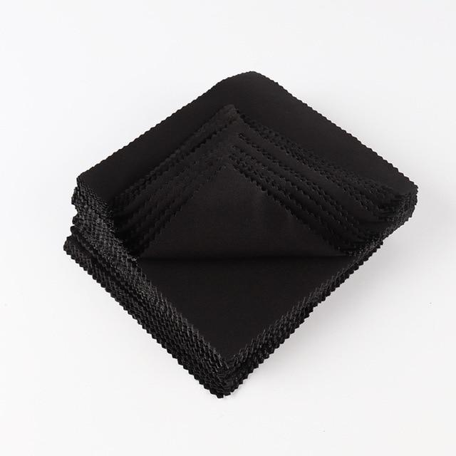Black Micofiber eyeglasses cleaning cloth  colorful cotton glasses cloth 130*130mm 100pcs/lot
