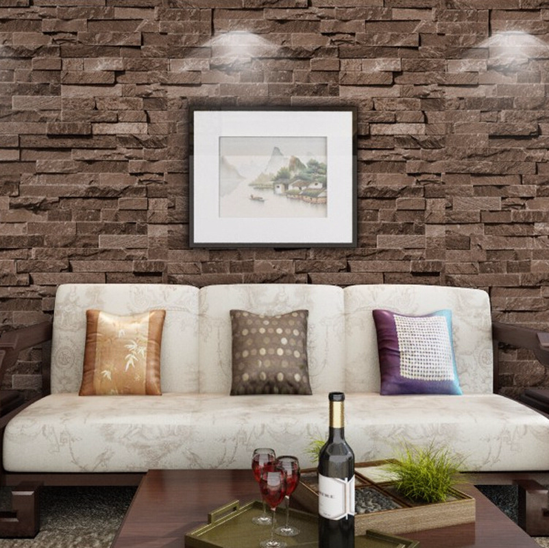 3D Stereoscopic Stone Brick Wall Wallpaper for Walls Living Room Vinyl TV Background Roll Mural Home Decor Restaurant PVC Good beibehang stone brick wall 3d wallpaper roll modern retro pvc vinyl wall bedroom living room background wallpaper for walls 3 d