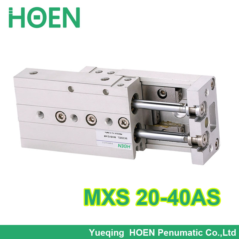 MXS20-40 SMC Type MXS series Cylinder MXS20-40AS Air Slide Table Double Acting 20mm bore 40mm stroke  Accept custom MXS20*40 airtac type cylinder sda 40 40 compact cylinder double acting 40 40mm accept custom