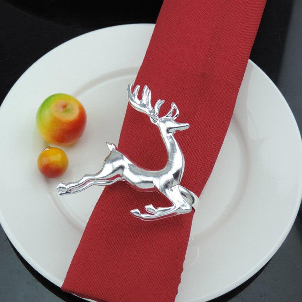 Adaptable Kerst Kerstman Servet Ring Herten Tafel Decor Gesp Servet Houder Voor Kerst Diner Gift Servies Decoratie F80 In Veel Stijlen