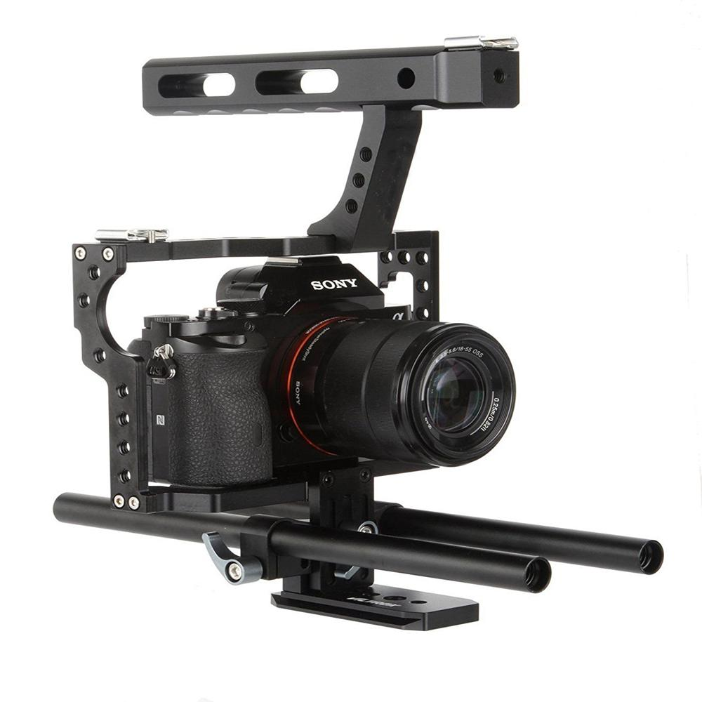 DSstyles Veledge VD-07 Rod Rig DSLR Camera Video Cage Kit Stabilizer for Sony Gh4 A7S A7 A7R A7Rii A7Sii Camera Accessories