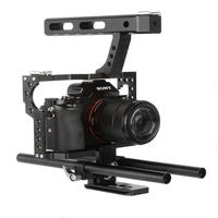 DSstyles Veledge VD 07 Rod Rig DSLR Camera Video Cage Kit Stabilizer for Sony Gh4 A7S A7 A7R A7Rii A7Sii Camera Accessories