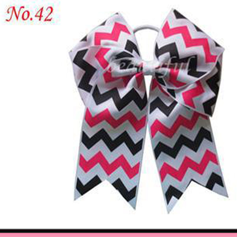 Hand Customize Free Shipping 10pcs BLESSING Good Girl Hair Accessories Long Tail 7.5 Cheer Leader Bow Elastic