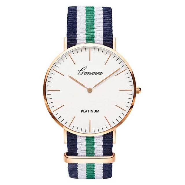 Nylon strap Style Quartz Women Watch Men Watch Fashion Casual Unisex Watches Lov