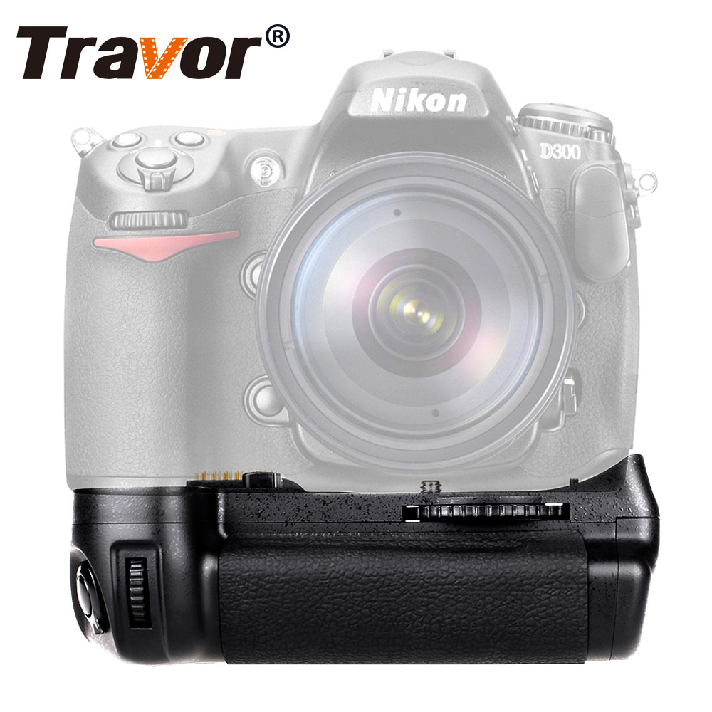 Travor Vertical Battery Grip holder for Nikon D300 D300S D700 DSLR Camera as MB-D10 work with EN-EL3e battery bullet camera tube camera headset holder with varied size in diameter