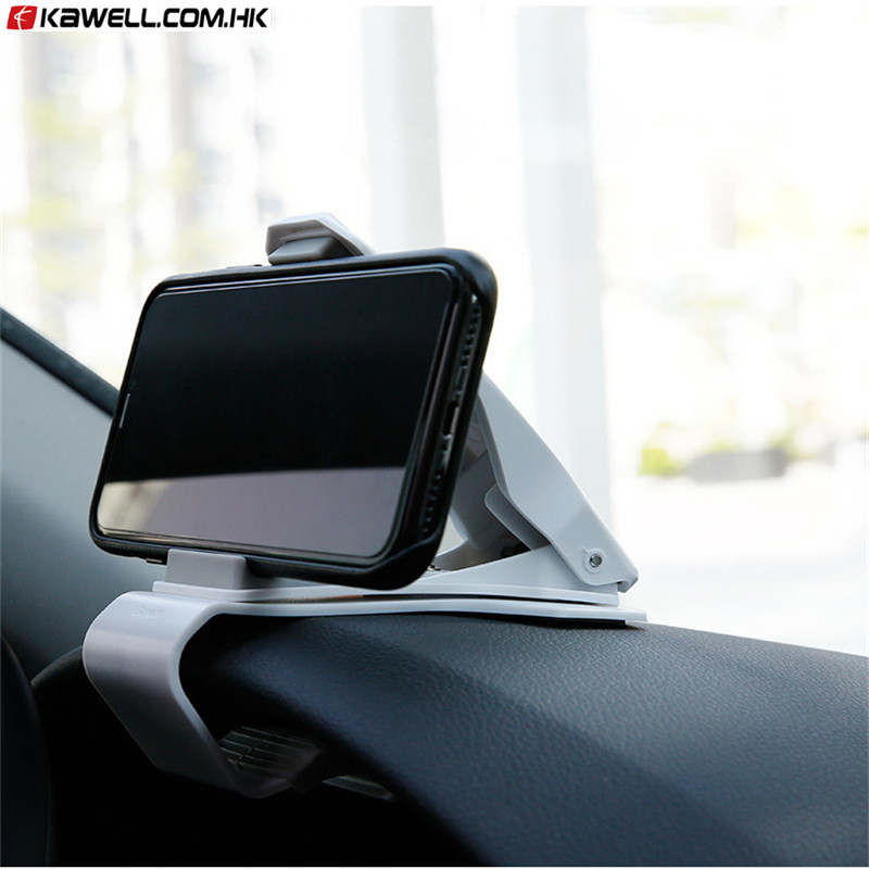 100 Pcs A Lot Car Holder For IPhone Mobile Phone Holder Stand 360 Degree GPS Clip Mount Dashboard Car Phone Holder Grip