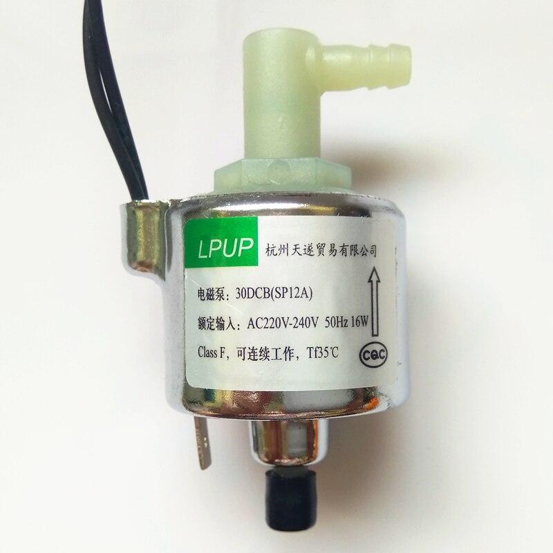 Eletromagnético miniatura bomba bomba magnética bomba dedicada mop vapor modelo 30DSB (SP12A) tensão potência AC220V-240V-50Hz 16 w