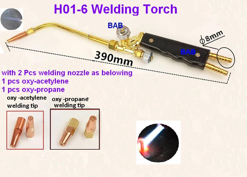 H01-6 portable Injection-type torches for welding oxy-acetylene oxy-propane welding torch cutting torch with 2pcs welding nozzle g01 100 acetylene oxygen cutting welding torch oxy acetylene oxy propane