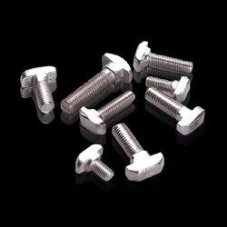 50 pcs/lot M6x16 Marteau Tête T Boulon En Aluminium Connecteurs T Tête Vis 3030 En Aluminium Profil CNC Noix DIY Pièces