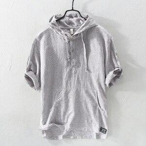 Summer Fashion Men Shirts Hood