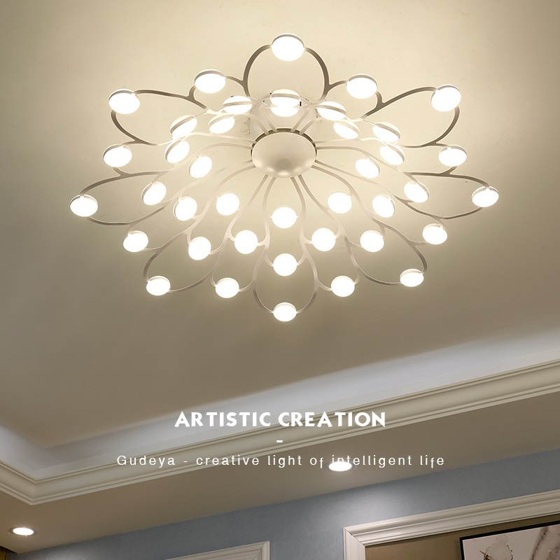 Modern LED Chandelier Ceiling Home Deco Luminaires Loft Fixtures Nordic Living Room Hanging Lights Children Bedroom Lighting