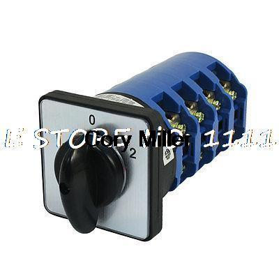 660V 125A 1-0-2 3Positions 3Pole Rotary Cam Universal Changeover Switch lw8 10 2 rotary handle universal cam changeover switch ui 660v ith 20a