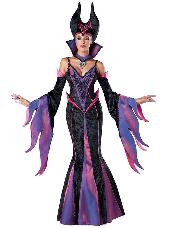 Us 57 99 7 Off Hot Sale In Character Maleficent Costume Adult Dark Sorceress Womens Halloween Evil Queen Fancy Dress Costume Disfraces W159341 In