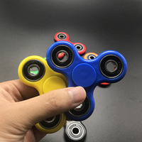 New Steel Ceramics Tri Spinner Fidget Toy Plastic EDC Hand Spinner For Autism And ADHD Rotation