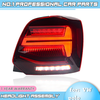 BiNFU Car Styling 2006 2007 2016 For vw POLO taillights For VW golf MK6 led rear lights ,DRL+Brake+Park+Dynamic turn signal