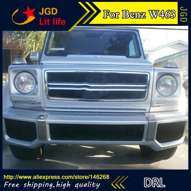 Бесплатная доставка ! 12В 6000K СИД DRL дневного света для Benz W463 G500 с противотуманная фара