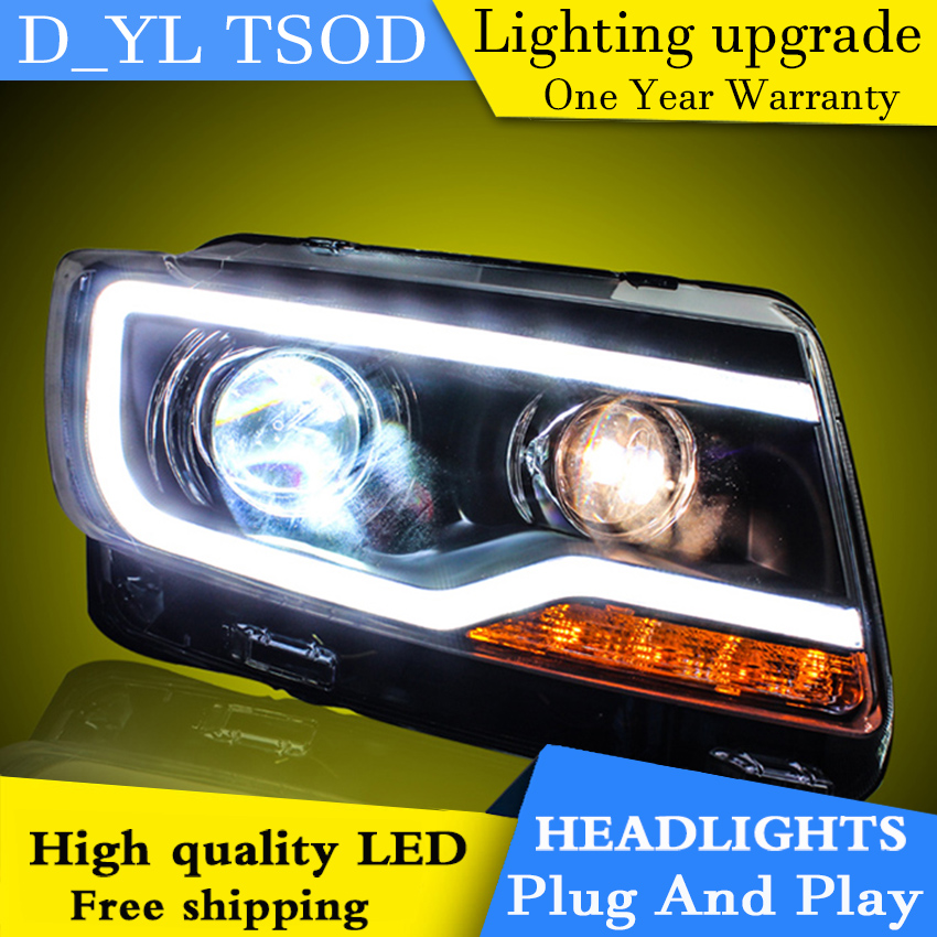 Car Styling Headlights for JEEP Compass 11 15 LED Headlight for Compass Head Lamp LED Daytime