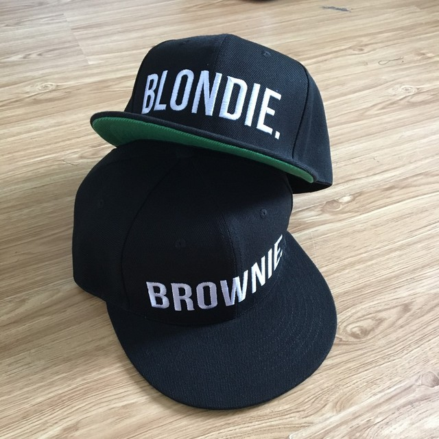 BLONDIE BROWNIE Letter Embroidery Snapback Hats Flat Bill Men Women Acrylic Gifts For Him Her Trucker Hats Free Shipping
