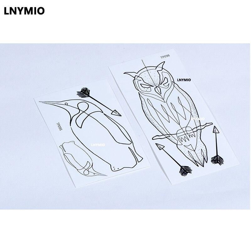 2pcs NYTT tatoveringsugle og pingvin midlertidig tatoveringsklistre - Tatovering og kroppskunst - Bilde 4