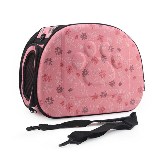 Dog Carrier Bag Portable Cats Handbag Foldable Travel Bag Puppy Carrying Mesh Shoulder Pet Bags S/M/L 4
