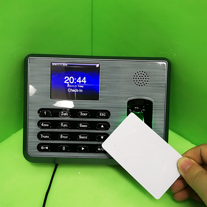 TX628 ZK Fingerprint time attendance System Employee Time Management System + 13.56mhz Proximity rfid Card Time Clock Recording