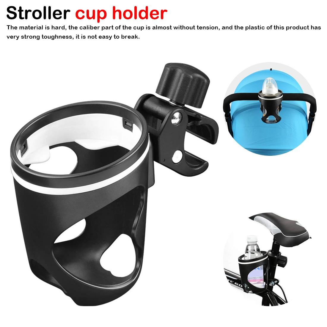 New Baby Stroller Cup Holder Rack Bottle Universal 360 Rotatable Cup Holder For Milk Bottle Cart Pram Stroller Accessories