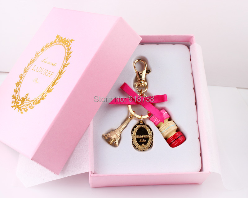 Sell Keychain Bag Charms France Laduree Macarons Effiel Tower Lover Mothers  Christmas #84649