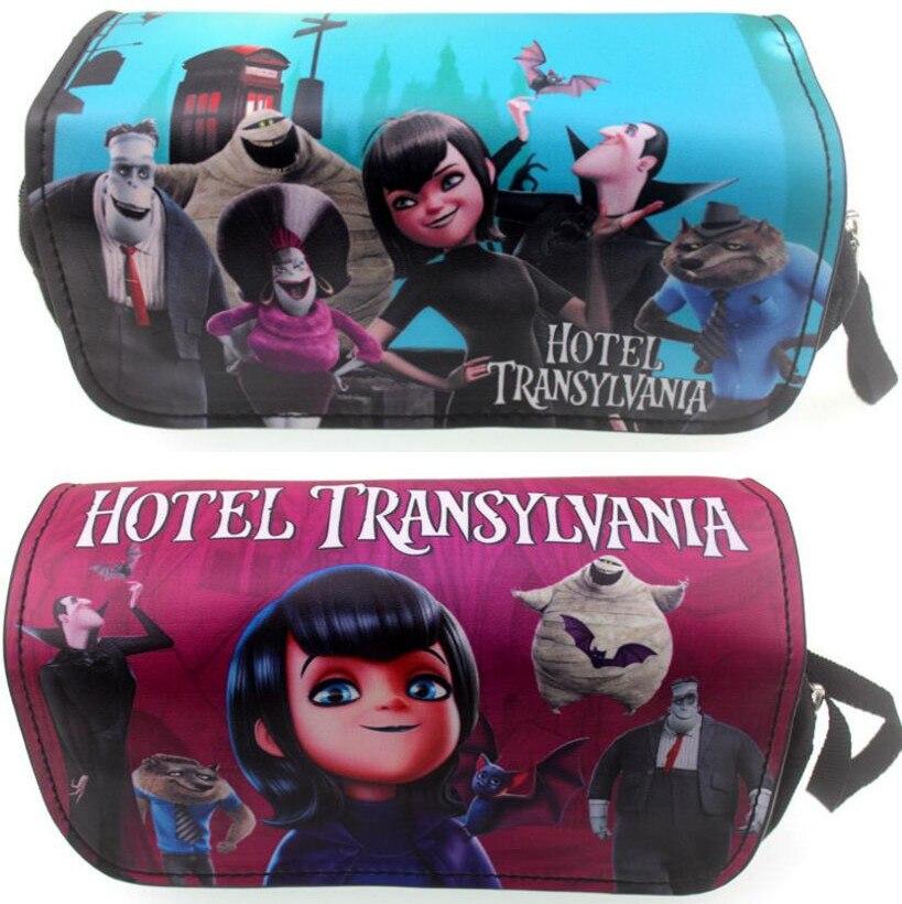 Hotel Transylvania Cartoon Pencil Case Canvas Pu Zip Super