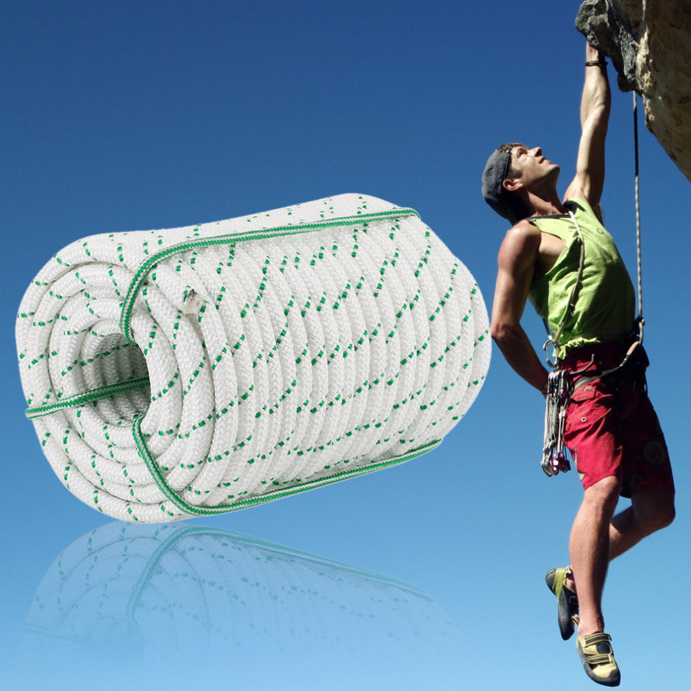 38 m haute résistance escalade cordes sécurité escalade arbre roche élingue rappel corde auxiliaire corde équipement simple côté tresse corde