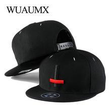 Wuaumx Brand Summer Embroidery Cross Hip Hop Snapback Hats For Men Woman Flat Brim Baseball Caps casquette de marque Adjustable