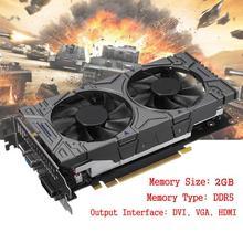 Новая не оригинальная графическая карта Geforce 1050 2 GB DDR5 Видеокарта 1050 Модифицированная на 550Ti 2 GB видеокарта