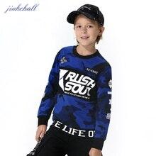 2017 Grands Garçons Filles Camouflage Chandail Enfants Lettre Impression Coton Manches Longues O-cou Sweat Pour 8-15 Ans Enfants G2003